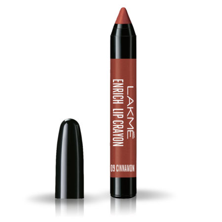 Lakme Enrich Lip Crayon, Cinnamon Brown (14.4g)