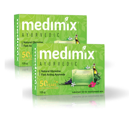 Medimix Ayurvedic Natural Glycerine Bathing Bar, 125g (Pack of 2)