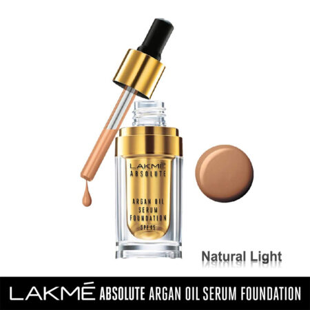 Lakme Absolute Argan Oil Serum Foundation, Natural Light (15ml)