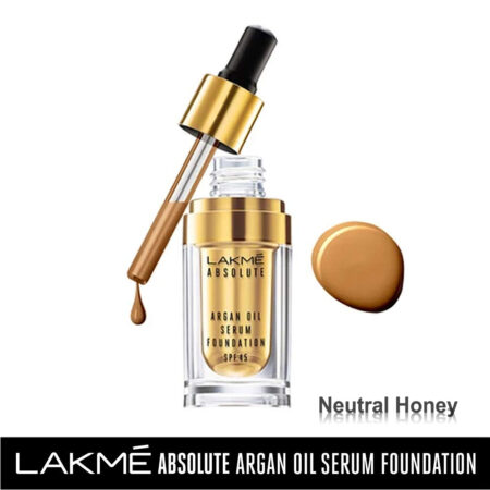 Lakme Absolute Argan Oil Serum Foundation, Neutral Honey (15ml)