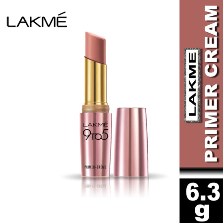 Lakme 9 To 5 Primer + Cream Lip Color, Nude Dust CP10 (3.6g)