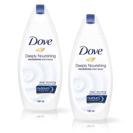 Dove Deeply Nourishing Bodywash With Free Loofah (190ml) Pack of 2