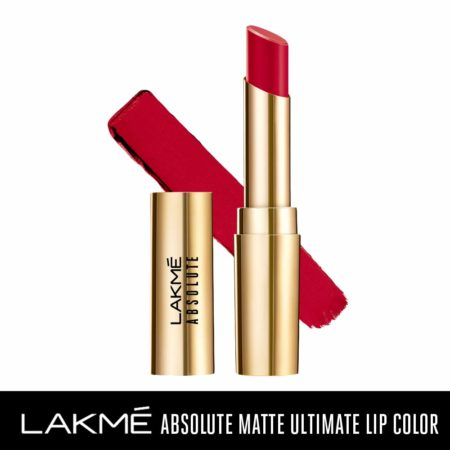 Lakme Absolute Matte Ultimate Lip Color With Argan Oil, Red Extreme (3.4g)