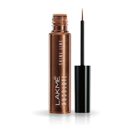 Lakme Absolute Shine Liquid Eye Liner, Shimmer Bronze  4.5ml