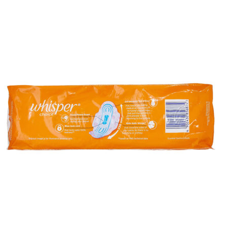 Whisper Choice Sanitary Pads for Women 7 pads pack of 5