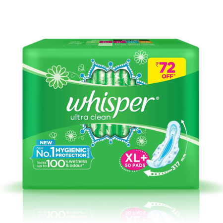 Whisper Ultra Clean Sanitary Pads - XL 50 Pads