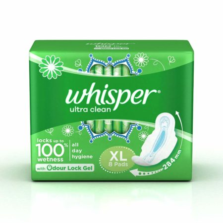 Whisper Ultra Clean Sanitary Pads-XL (8 Pads)