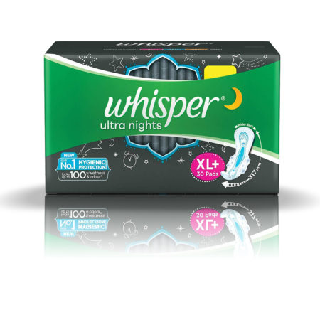 Whisper Ultra Nights Sanitary Pads-XL Plus (30 Pads)
