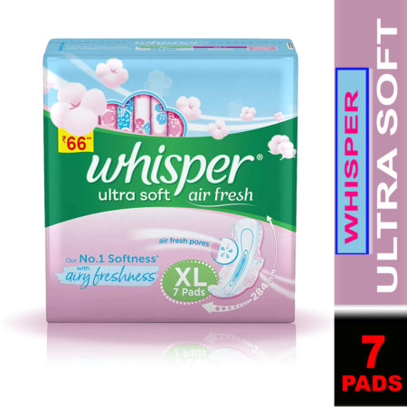 Whisper Ultra Soft Sanitary Pads-XL (7 Pads)
