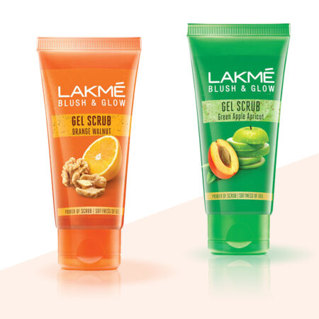 Lakme Blush and Glow Apple & Orange Walnut Gentle Deep Clean Gel Scrub, 50g