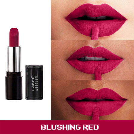 Lakme Absolute Matte Revolution Lip, Blushing Red