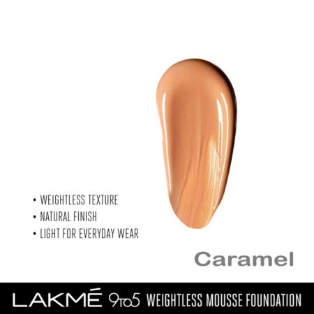 Lakme 9 To 5 Weightless Mousse Foundation, Caramel (29gm)