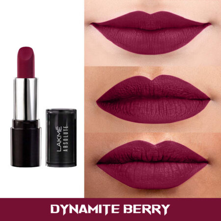 Lakme Absolute Matte Revolution Lip Color, Dynamite Berry