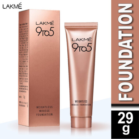 Lakme 9 To 5 Weightless Mousse Foundation, Walnut (29gm)