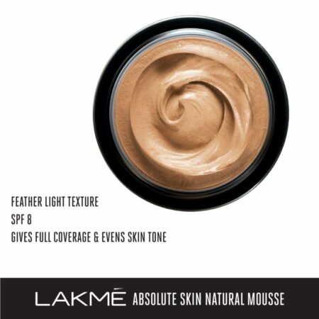 LAKMÉ ABSOLUTE MATTREAL SKIN NATURAL MOUSSE, Rose Fair 1