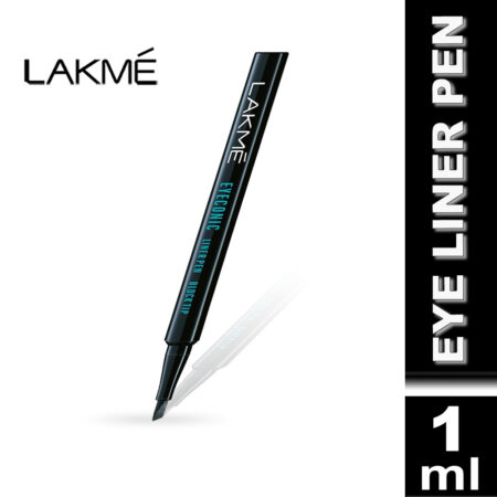 Lakme Eyeconic Liner Pen Block Tip, Black (1ml)