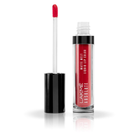 Lakme Absolute Matte Melt Liquid Lip Color, Firestarter Red (6ml)