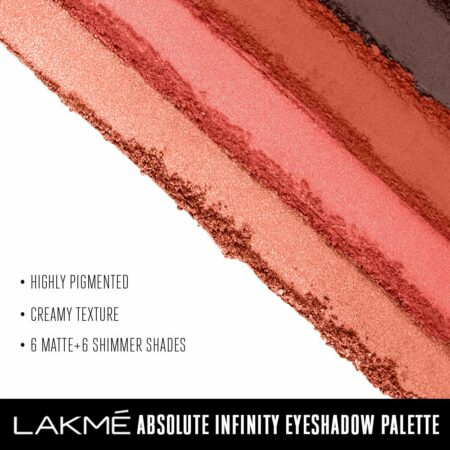 Lakme Absolute Infinity Eye Shadow Palette, Coral Sunset (12g)