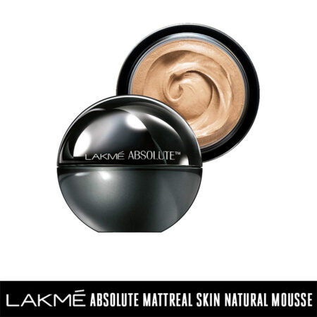 Lakmé Absolute Mattreal Skin Natural Mousse, Medium Toffee (25g)