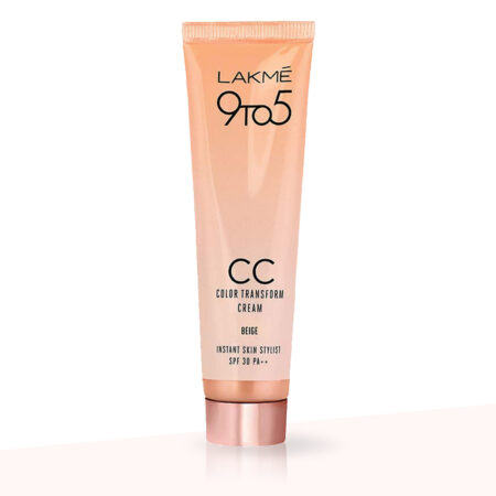 Lakme 9 To 5 CC Color Transform Cream, Beige (30g)