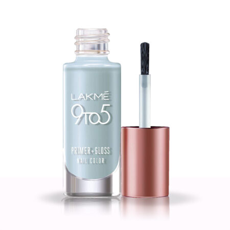 Lakme 9 To 5 Primer + Gloss Nail Colour, Blue Scape (6ml)