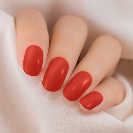 Lakme 9 To 5 Primer + Gloss Nail Colour, Cherry Red