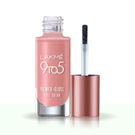 Lakme 9 To 5 Primer + Gloss Nail Color Pink Origin (6ml)