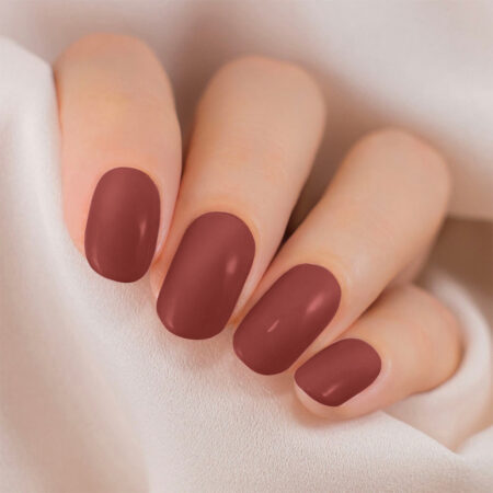 Lakme 9 To 5 Primer + Gloss Nail Color, Dusty Pink