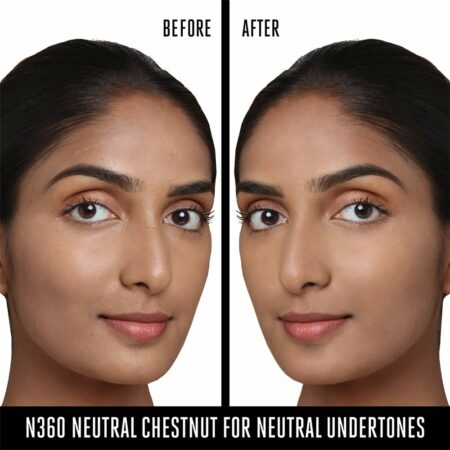 Lakme 9 To 5 Primer + Matte Perfect Cover Foundation, N360 Neutral Chestnut (25ml)