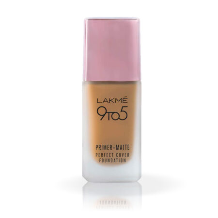 Lakme 9 To 5 Primer + Matte Perfect Cover Foundation, N340 Neutral Almond (25ml)