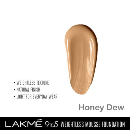 Lakme 9 To 5 Weightless Mousse Foundation, Honey Dew (29gm)