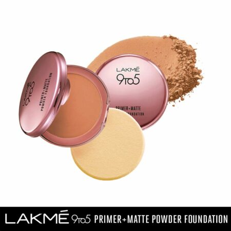 Lakme 9to5 Primer + Matte Powder Foundation, Honey Dew (9g)