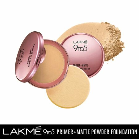 Lakme 9to5 Primer + Matte Powder Foundation, Ivory Cream (9g)