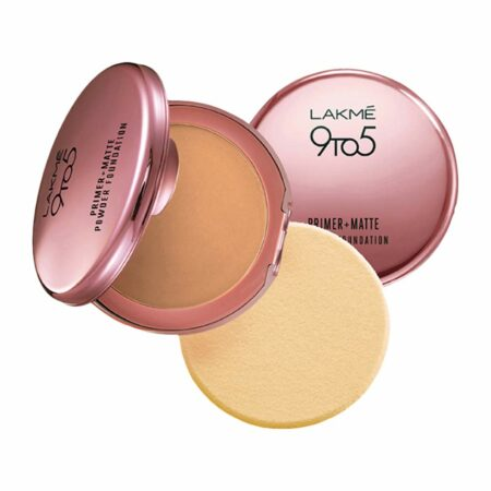Lakme 9to5 Primer + Matte Powder Foundation, Natural Light (9g)