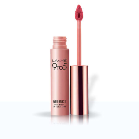 Lakme 9to5 Weightless Mousse Lip And Cheek Colour, Candy Floss (9g)