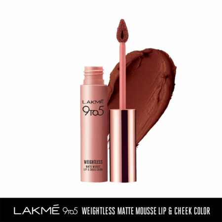 Lakme 9to5 Weightless Mousse Lip And Cheek Colour, Chocolate Mousse (9g)