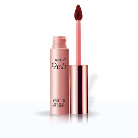 Lakme 9to5 Weightless Mousse Lip And Cheek Colour Chocolate Mousse (9g)