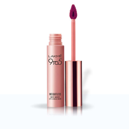 Lakme 9to5 Weightless Mousse Lip And Cheek Colour, Magenta Kiss (9g)