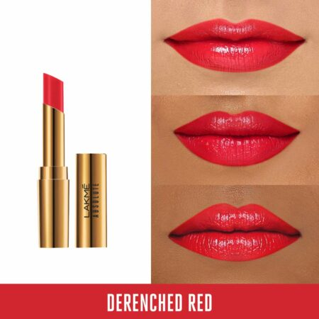 Lakme Absolute Argan Oil Lip Color, Drenched Red