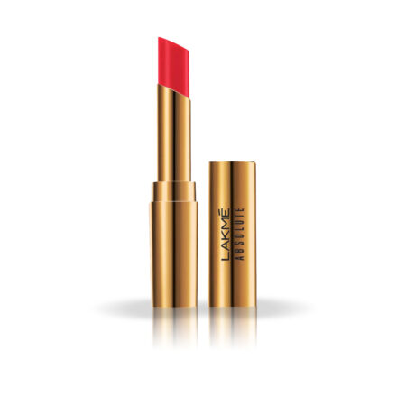 Lakme Absolute Argan Oil Lip Color, Drenched Red (3.4g)