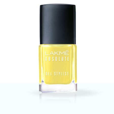 Lakme Absolute Gel Stylist Nail Color, Lemon Zest