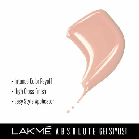 Lakme Absolute Gel Stylist Nail Color, Salmon