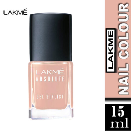 Lakme Absolute Gel Stylist Nail Color, Salmon (15ml)