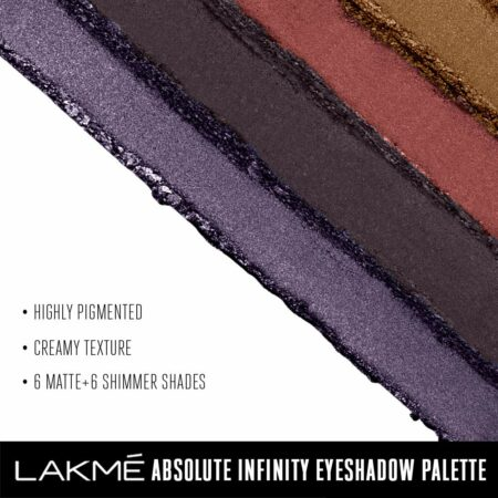 Lakme Absolute Infinity Eye Shadow Palette, Midnight Magic (12g)