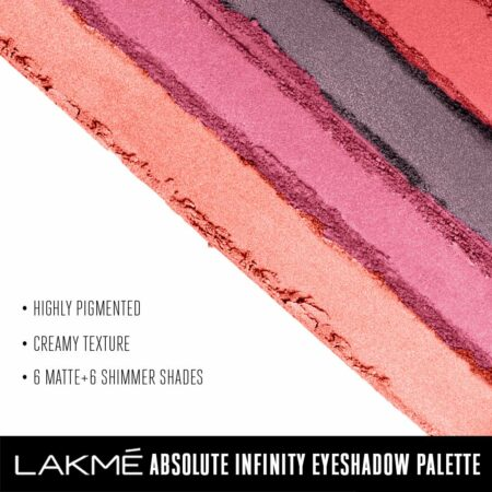 Lakme Absolute Infinity Eye Shadow Palette, Pink Paradise (12g)