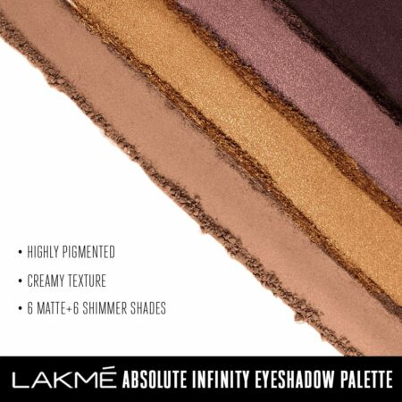 Lakme Absolute Infinity Eye Shadow Palette, Soft Nudes (12g)