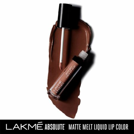 Lakme Absolute Matte Melt Liquid Lip Color, Cocoa Butter (6ml)