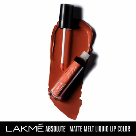Lakme Absolute Matte Melt Liquid Lip Color, Coral Flip (6ml)