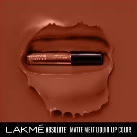 Lakme Absolute Matte Melt Liquid Lip Color Crushed Caramel (6ml)