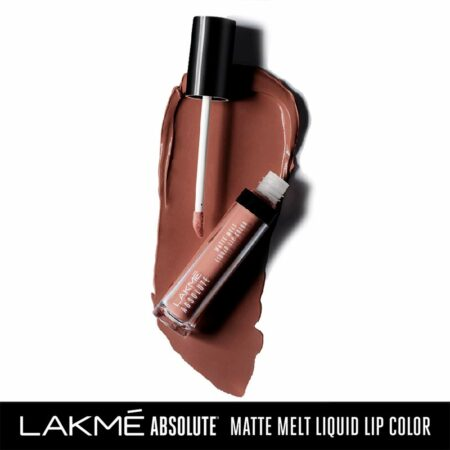 Lakme Absolute Matte Melt Liquid Lip Color, Natural Nude (6ml)